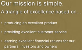 Our Mission is Simple - A triangle of excellence based on...